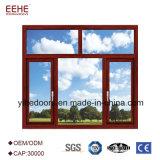 Деревянные двери алюминиевого окна зерна с полым стеклом