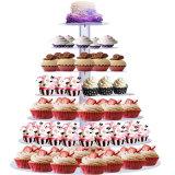 Suportes de bolo de Natal Cupcake acrílico Exibir suporte de placas riser