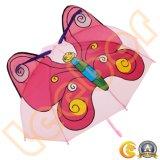 جذّابة فراشة يمزح لون قرنفل أطفال بنات مظلة