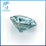 둥근 화려한 커트 6.5mm 1CT 파란 다채로운 느슨한 Moissanite 다이아몬드