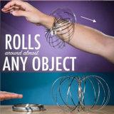 2018 anello cinetico di flusso dell'anello del nuovo del giocattolo 3D braccialetto magico a forma di magico creativo dell'acciaio inossidabile