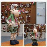 Jouet télescopique de Noël de bonhomme de neige de graduation de tissu du père noël