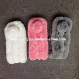 Sciarpa di lavoro a maglia di lusso della pelliccia del coniglio della qualità superiore delle donne