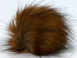 Cadeau promotionnel mignon Fourrure de raton laveur Pompom trousseau