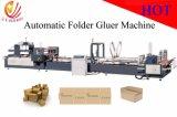 De volledige Automatische Machine van Gluer van de Omslag van de Doos van het Karton