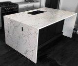 Белого каррарского потрясающие кварцевого камня твердой поверхности