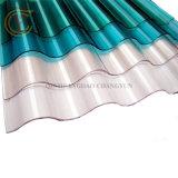 Plástico reforzado con fibra de vidrio translúcido de la hoja de techado de teja de plástico reforzado con fibra