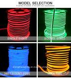 indicatore luminoso parteggiato 8*16mm del doppio verde chiaro al neon dell'indicatore luminoso LED di distribuzione di tensione 24low