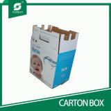 El envío de caja de cartón ondulado de doble pared de agua purificada envases