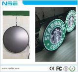 Pleine couleur Indoor P3mm publicité signe ronde affichage LED