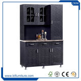 Module de cuisine en bois bon marché de porte de type indien de PVC 3 pour des jeux de cuisine
