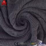 Double couverture d'acrylique de maneton de Knit de câble de rapiéçage de couleur