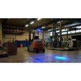 12V 24V Op zwaar werk berekende 5 Duim 45W om Lichten van de LEIDENE de Blauwe Waarschuwing van de Veiligheid voor Vrachtwagen Forklifts
