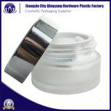 10ml 20ml 30ml noir de la crème des cosmétiques de luxe bocal en verre avec couvercle en aluminium pour le visage de la crème
