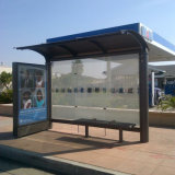 L'extérieur de l'acier personnalisés Abribus affichage publicitaire solaire