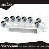 cámaras de vigilancia sin hilos del CCTV de la seguridad del kit de la vigilancia NVR de 720p 1.0MP 8CH WiFi