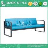 Insieme di alluminio esterno del sofà con il sofà moderno del singolo sofà di alluminio stabilito del sofà del giardino dell'ammortizzatore con il cuscino