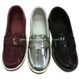 Inyección de Moda Mujer Putent Dama calzado casual de cuero zapatos de ocio (YJ18514-15)