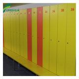 De gele Kast van de Kolom van de Kleur HPL 3 met Zeer belangrijk Slot