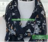 方法女性European Scarf 100% Viscoseのシャクヤクによって印刷されるイスラム教のショール