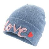 L'acrylique 3 D Embroidery Sport hiver ski chaleureux personnalisé tricoté Hat cap bonnet chapeaux de couleur unie