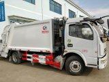 Lourdes Dongfeng 4X2 8tonnes Compacteur de compression de camion à ordures