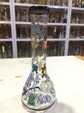 Rick-und Morty Becher-rauchendes Glaswasser-Rohr mit Farben-Anlage-Kunst handgemachtes Rickandmorty
