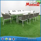 Corda de mobiliário de exterior para refeições e cadeira de madeira de teca/Quadro de alumínio