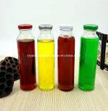 [10وز] زجاجيّة شراب زجاجات مع أسود معدن طرف توصيل غطاء