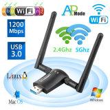 1200Mbps Adaptateur USB sans fil WiFi, ordinateur portable, adaptateurs réseau,