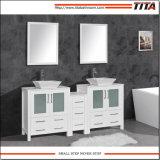 Bacia de cerâmica de montagem acima moderno mobiliário de banho T9163