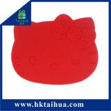 Sottobicchiere su ordinazione del rilievo/PVC di /Cup della stuoia della tazza del PVC (TH-bd007)