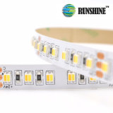 Direccionable SMD3527 de color blanco doble tira de LED flexible