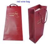 Sacco di carta del Bordeaux uno del vino italiano della bottiglia con le maniglie Twisted