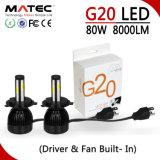 Nuevos productos de L6 60W 600lm coche Faro de LED de alta H4 H4 de luces de cruce faros LED