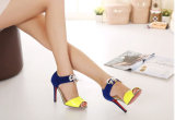 Nuevo estilo de la moda señoras sandalias de tacón alto