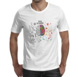 T-shirt publicitaire blanche bon marché avec l'impression pour la promotion
