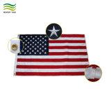 Bandera Nacional de EE.UU. de poliéster Oxford bordados bandera americana estrellas de América (J-NF16F05005)