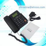 GSM SIM Fwp van lage Kosten de Dubbele 2 of 1 Telefoon van de Desktop met de Radio van de FM en identiteitskaart van de Bezoeker