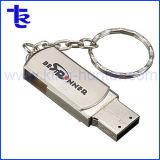 Le trousseau Pormo métallique pivotant de gros Lecteur Flash USB Pen Drive
