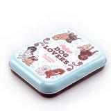 Fabricado en China caliente de Venta al por mayor de la caja de estaño con bisagras para tarjetas y Poke