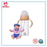 Forma recta Botellas de cristal anti cólico del bebé libre de BPA