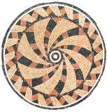 Waterjet медальон на пол плитка