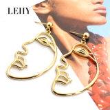 Nouveau design de mode portrait personnalisé shape or/Silver-Plated Drop Earrings