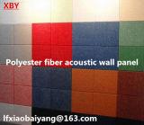 Painéis de teto de lã preta no painel de parede de cinema Painel de decoração de painel acústico