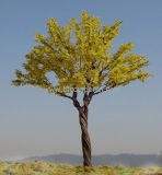 建築スケールの人工的な鉄ワイヤースケール・モデルの木