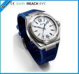 Blaue Silikon-Mann-Uhr für Sport-Männer