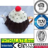 Maglione accogliente della teiera del coperchio del Knit della torta