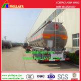 Acero inoxidable Tri-Axle Fuel depósito de gasolina semi remolque cisterna
