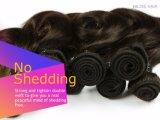 Brasilianischer Jungfrau-Haar-gerade Kurzschluss-schwarzes Farben-Menschenhaar 100%